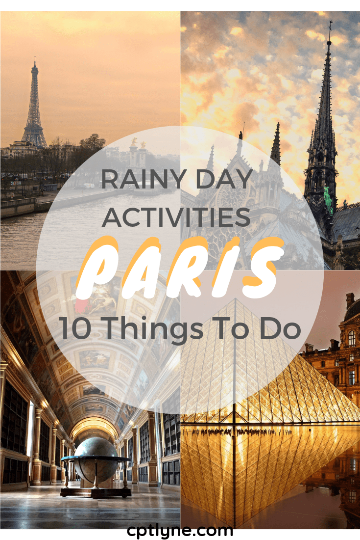 Are you visiting Paris on rainy day? Worry not there is still plenty of things to do in Paris when it rains! The French capital is a travel destinations full of surprise, once you visit it you understand why it is such a popular destinations and that's also the case it gives Paris a peculiar charm. From exploring the secret passages, to visiting the catacombes and eating delicious food here are 10 things to do when it rains in Paris to add to your bucket list! #Paris #holidaydestination