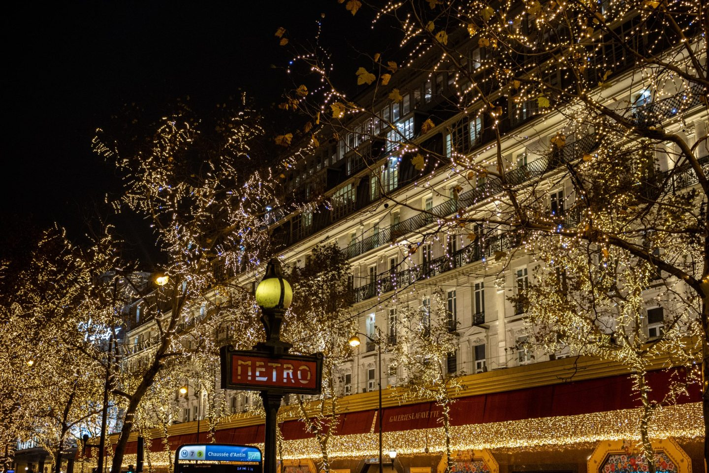 Christmas decorations in Paris