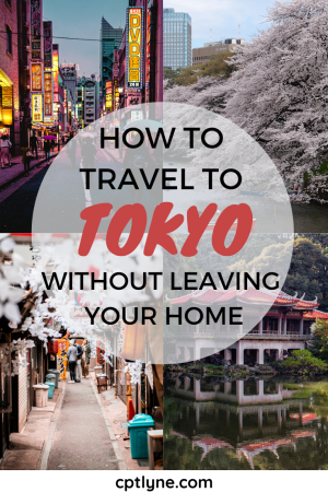 Want to travel to Tokyo but you can't at the moment? Why not try to virtually travel from the confort of your home? Find out the best ways to immerse yourself in Tokyo from the confort of your home, with all those travel tips to have a fun virtual vacation! This fun travel guide you'll fulfill your wanderlust from home until you can travel! #travelingtips #travelguide #virtualtravel #virtualvacation #japan #tokyo