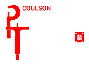 Coulson Precision Tooling Logo White Mobile
