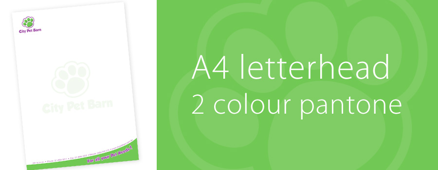 A4 Letterhead - City Printing Works