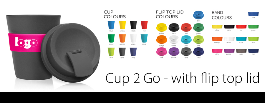 Cup 2 Go - Flip Top Lid 356ml