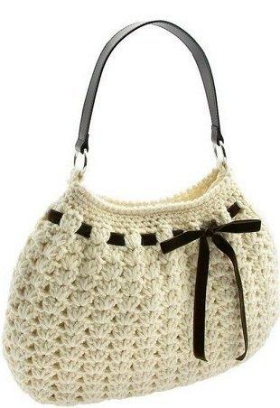 1f88725b8032 Вязаная летняя сумка крючком с цветами схемы. Сумки вязаные спицами ...