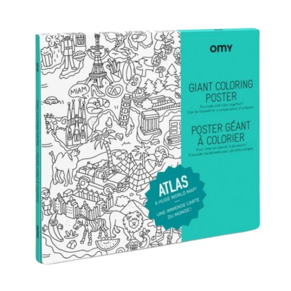 Poster géant à colorier Atlas