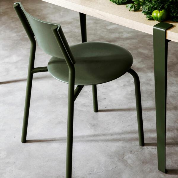 chaise ssdr vert romarin tiptoe plastique recyclé 1