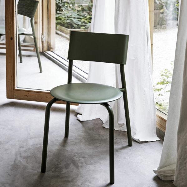 chaise ssdr vert romarin tiptoe plastique recyclé 4