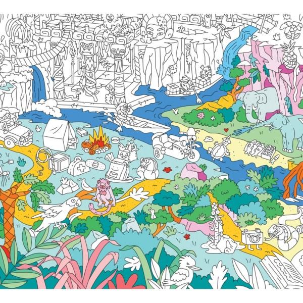 Poster géant à colorier Jungle