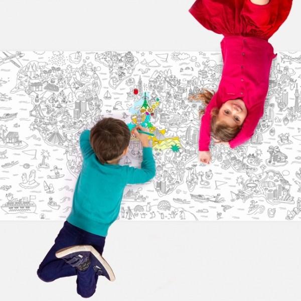Poster XXL à colorier Atlas