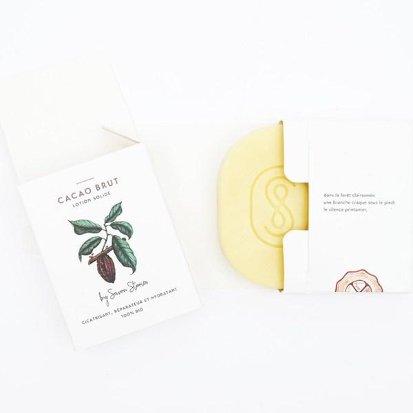 Baume solide bio réparateur au cacao