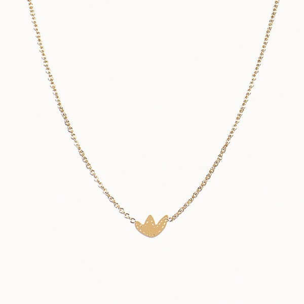 Collection Flatbush, le collier en laiton doré à l'or fin