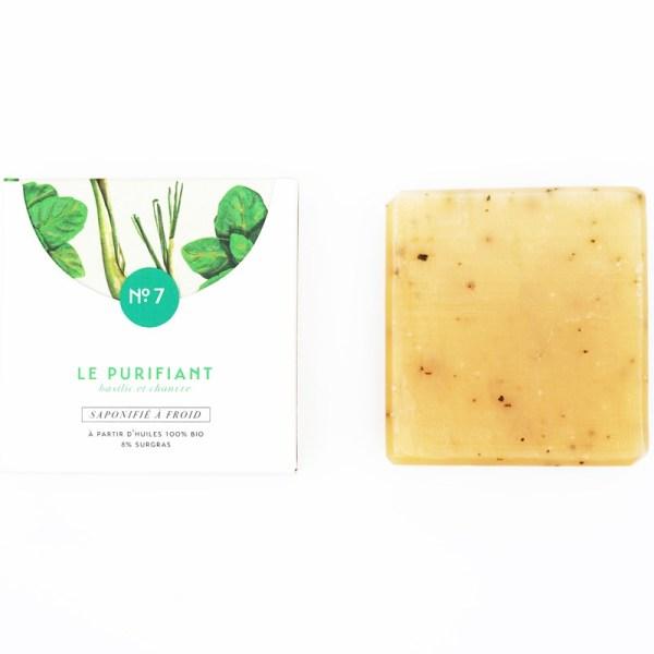 Mini savon bio surgras n°7 au basilic