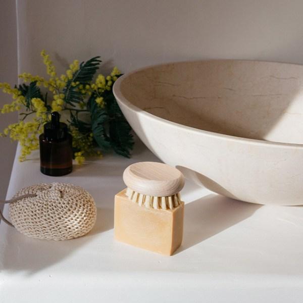 Éponge de bain naturelle en coton