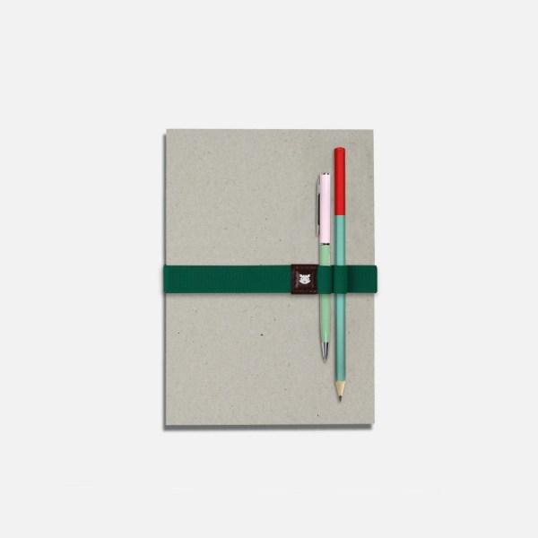 Élastique pour carnet avec porte-stylos – Le Voyageur Dublin