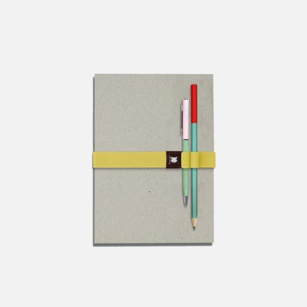 Élastique pour carnet avec porte-stylos – Le Voyageur L.A
