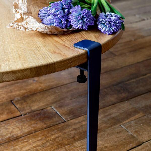 Pied de table basse/banc serre-joint design 43cm