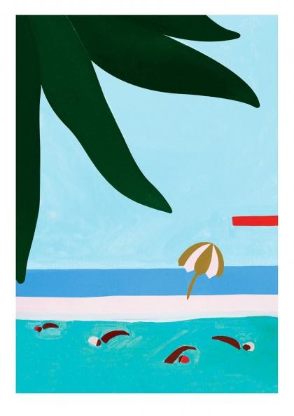 Affiche Léa Morichon – Les nageurs