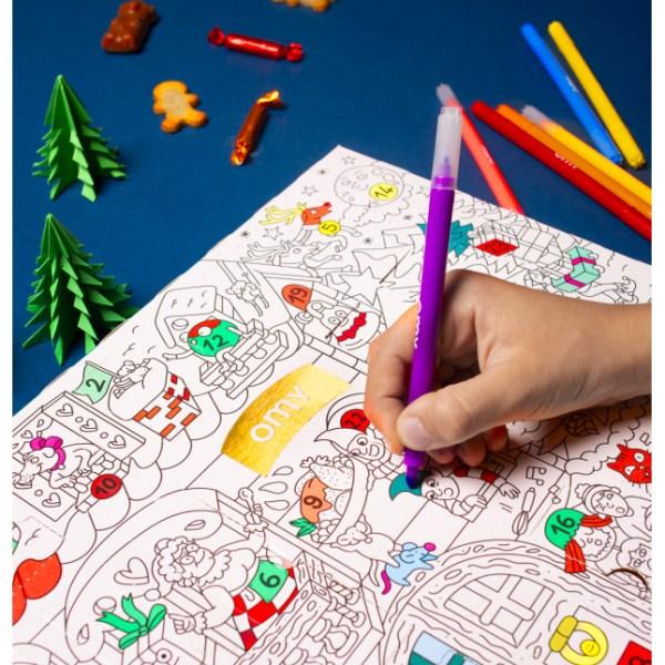 Calendrier de l'Avent gourmand à colorier