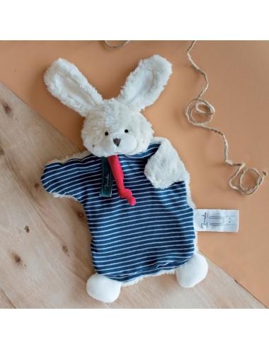 Doudou en coton bio Marionnette – Lapin