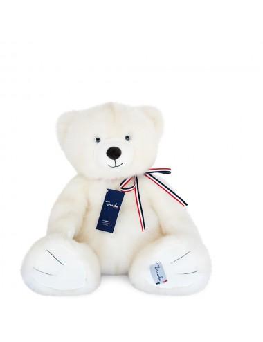 L'ours français 50cm – Blanc poudré