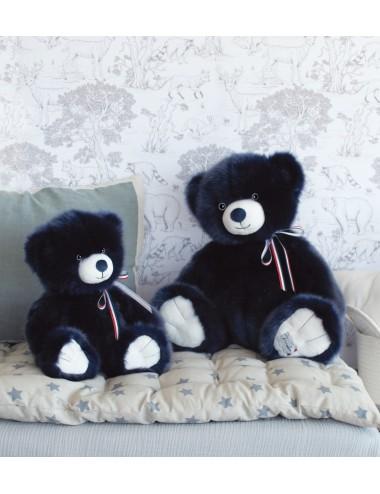 L'ours français 35cm – Marine