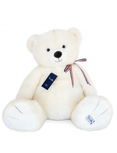 L'ours français 65cm – Blanc poudré