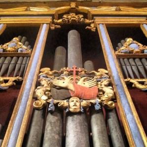 Dettaglio dell'organo di Vincenzo colonna