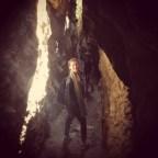 all'interno della Fessa di Smerillo, una gola scavata nell'arenaria piena di fossili