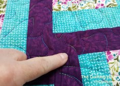 After quilting with the Glide 'n Go. It looks like ite's pleated but they are not in the stitching.