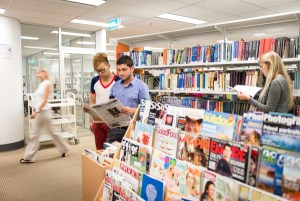 Students at CQUniversity Sydney library