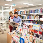 Students at CQUniversity Sydney library