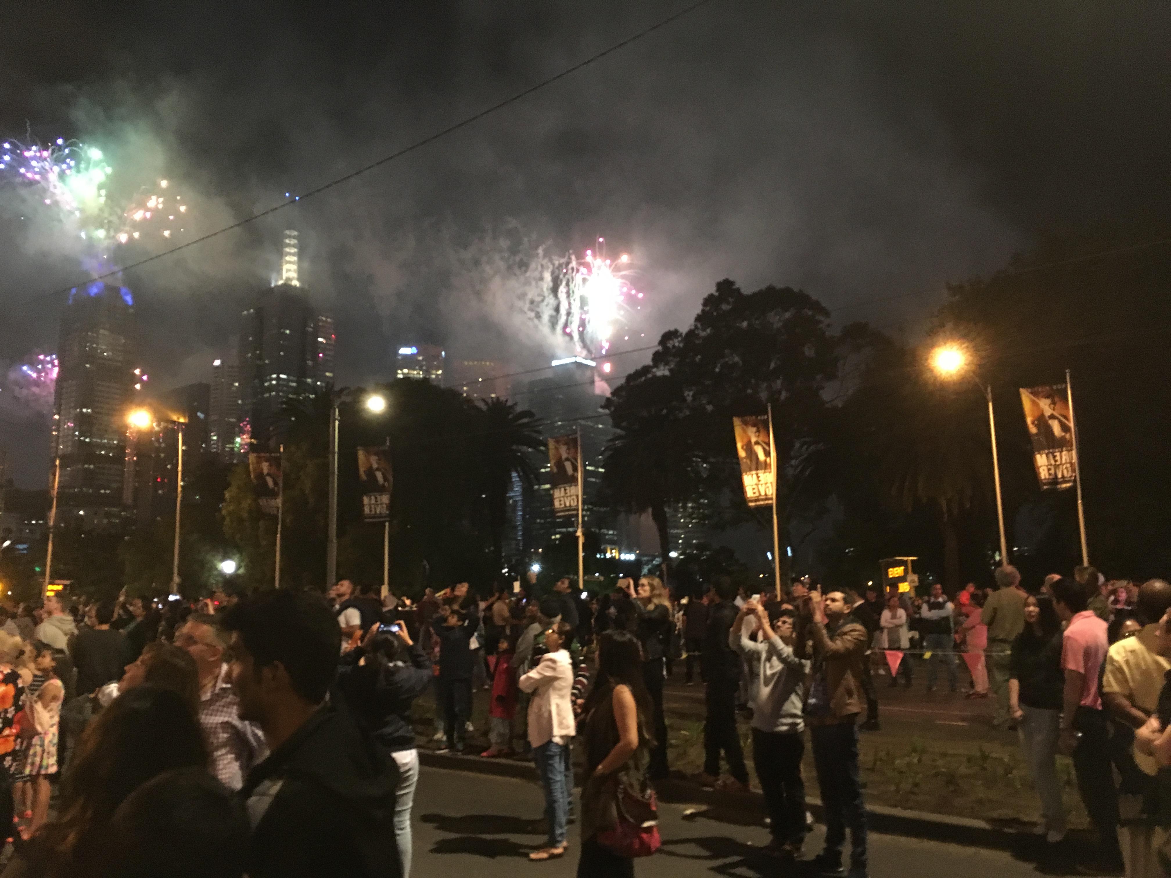 Enjoying Melbourne new year celebration .JPG