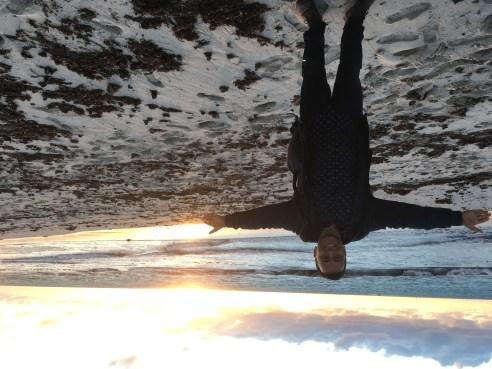 Enjoying sunset in Perth.JPG