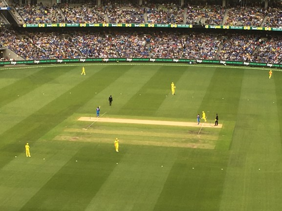 WATCHING INTERNATIONAL CRICKET at MCG MY FAV TEAM AUS.JPG