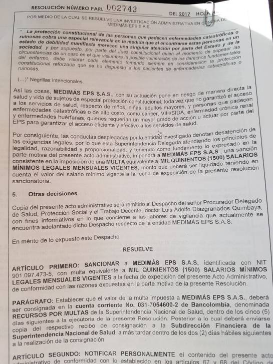 Imponen fuerte multa a Medimás por no atender a pacientes con enfermedades catastróficas
