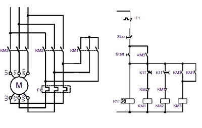 Power Wiring Diagram Of Star Delta Starter on star delta or wye motor wiring