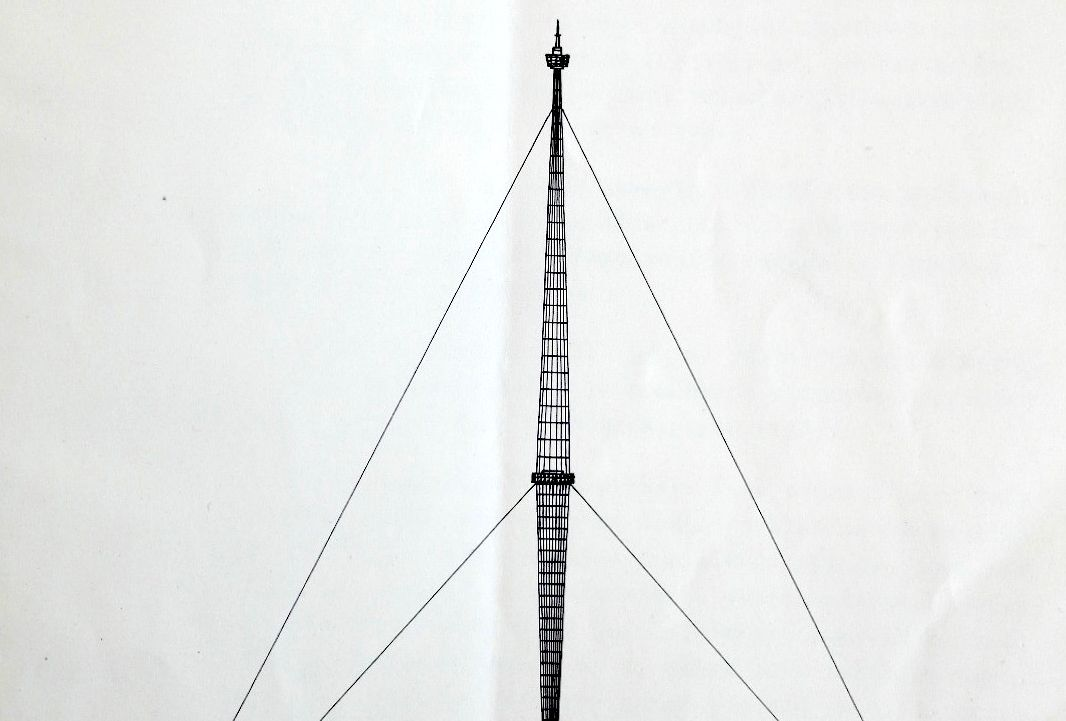 Artwork of the Month, September 2019: Design for a lookout tower in Prague by Jiří Hrubý (1937)