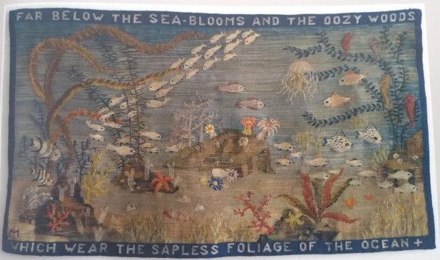 Lili Márkus: Tapestry illustrating lines from Shelley's 'Ode to the West Wind'