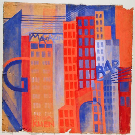 Erika Giovanna Klien, Panel 7 from A Walk through the Metropolis, 1923