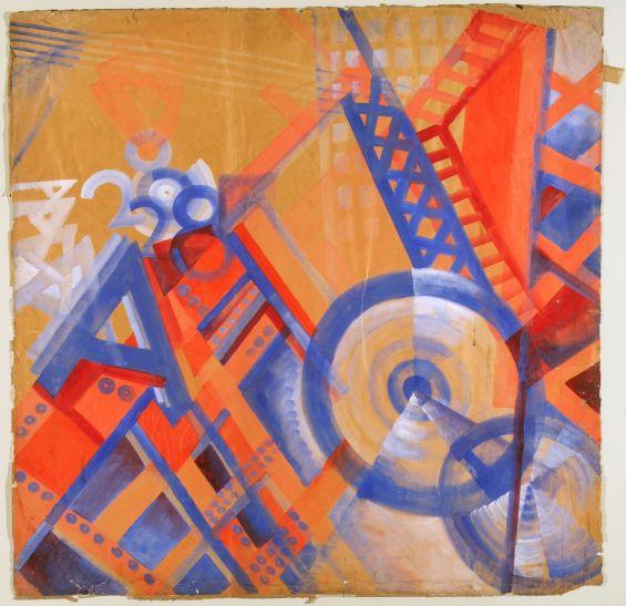 Erika Giovanna Klien: Panel 5 from A Walk through the Metropolis, 1923