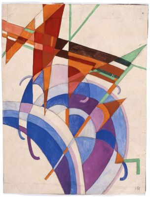 Abstract Composition by Hansi Reismayer, 1923