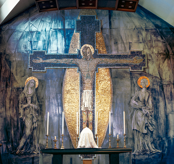 George Mayer-Marton: The Crucifixion, 1955, mural in the Church of the Holy Rosary, Oldham
