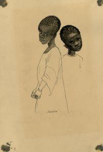 Milada Marešová: Two Black Boys (Colonial exhibition), 1931