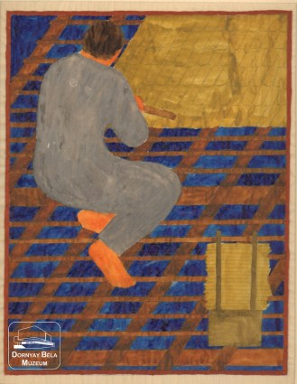 Roofer by Noémi Ferenczy, tapestry design