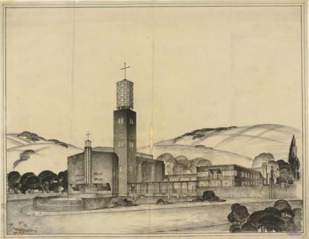 Gyula Rimanóczy's orignal design for the Church of Saint Anthony of Padua in Budapest
