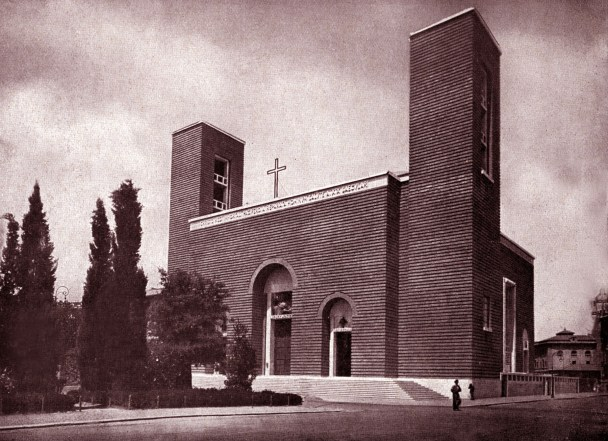 Church of the Sacred Heart ofChrist the King in Rome by Marcello Piacentini