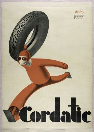 Cordatic, poster for car tyres by Róbert Berény