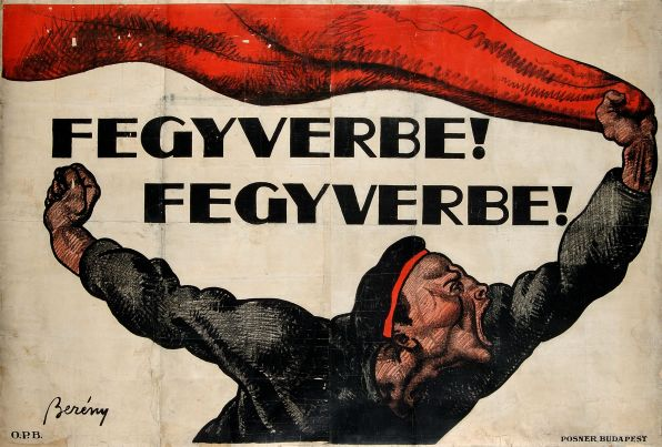 To Arms! To Arms! Poster by Róbert Berény, 1919