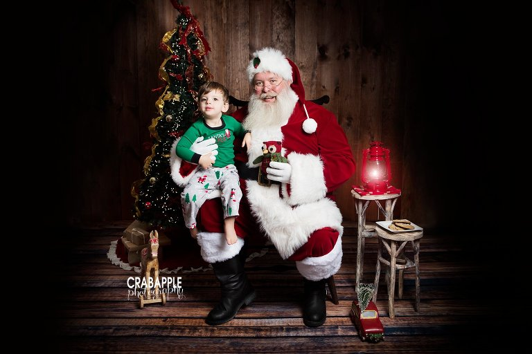 Baby Christmas Portraits With Santa MA Crabapple
