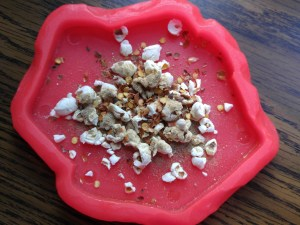 Spicy Liver Popcorn by Pam
