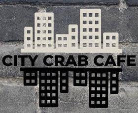 city skyline logo for city crab cafe